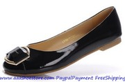 Wholesale Salvatore Ferragamo The Fun Black Patent Leather Ballerina F