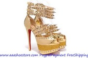 Wholesale Christian Louboutin Isolde Gloden 160mm Free shipping Paypal
