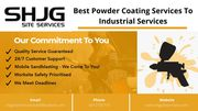 Best Powder Coating Services To Industrial Services - SHJG Site Servic